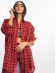 Missguided Klær Oversized Shirt Dress Check red 0
