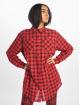 Missguided Klær Oversized Shirt Dress Check red 2