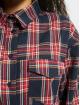 Missguided Košele Brushed Oversized Basic Check modrá
