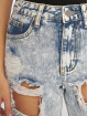 Missguided Mom Jeans Bleach Riot High Rise Ripped blue