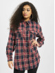 Missguided overhemd Brushed Oversized Basic Check blauw