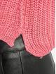Missguided Puserot Petite Core Roll Neck Crop vaaleanpunainen
