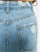 Missguided Skirt Busted Hem Denim Midi blue