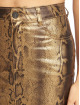 Missguided Skirt Metallic Snake Coated Denim gold colored 3
