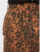 Missguided Spódniczki Leopard Print Denim Mini Co Ord brazowy