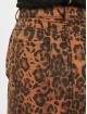 Missguided Sukňe Leopard Print Denim Mini Co Ord hnedá