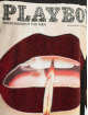 Missguided Sukienki Playboy Diamante Lips T-Shirt czarny