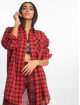 Missguided Sukienki Oversized Shirt Dress Check czerwony 0