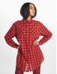 Missguided Sukienki Oversized Shirt Dress Check czerwony 2