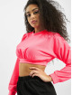 Missguided Swetry Petite L/S Waistband Crop pink