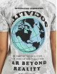 Missguided T-Shirt Tie Dye Socialite Earth Graphic Short Sleeve grau