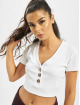 Missguided Top Horn Button blanco