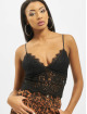 Missguided Top Tall Lace schwarz