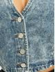 Missguided Tops Long Sleeve Button Through Denim niebieski