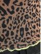 Missguided Tričká Contrast Binding Leopard Print Mesh hnedá