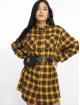 Missguided Vestido Oversized Check amarillo 0