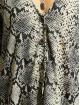 Missguided Vestido Button Thru Smock Snake gris