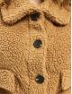 Missguided Winter Jacket Crop Borg Trucker brown