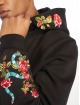 Mister Tee Hoody Flowers Embroidery schwarz