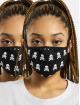 Mister Tee Pozostałe Skull Face Mask 2-Pack czarny