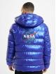 Mister Tee Puffer Jacket Nasa Insignia Metallic blau