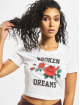 Mister Tee T-Shirt Broken Dreams Cropped blanc