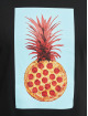 Mister Tee T-Shirt Pizza Pineapple noir
