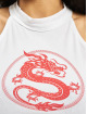 Mister Tee Tank Tops Ladies Dragon Turtleneck Short bialy
