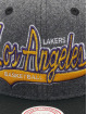 Mitchell & Ness Casquette Snapback & Strapback NBA Los Angeles Lakers HWC Melton COD gris