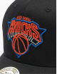Mitchell & Ness Snapback Cap NBA New York Knicks Neon Lights black