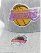 Mitchell & Ness Snapback Cap Team Heather Redline Los Angeles Lakers grau