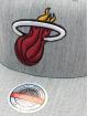 Mitchell & Ness Snapback Cap Team Heather Redline Miami Heat grau