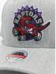 Mitchell & Ness Snapback Cap Team Heather Redline Toronto Raptors grau