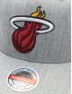 Mitchell & Ness Snapback Cap Team Heather Redline Miami Heat grey
