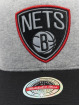 Mitchell & Ness Snapback Cap 186 Redline Brooklyn Nets grey