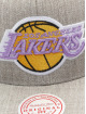 Mitchell & Ness Snapback Cap Team Heather HWC Los Angeles Lakers grey