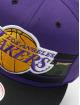 Mitchell & Ness Snapback Cap Woodland LA Lakers Covert purple 3