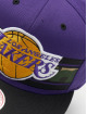 Mitchell & Ness Snapback Cap Woodland LA Lakers Covert violet 3