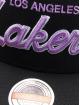 Mitchell & Ness Snapback Caps Foundation Script HWC Los Angeles Lakers Stretch svart