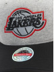 Mitchell & Ness Snapback Caps 186 Redline Los Angeles Lakers szary