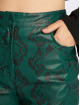 NA-KD Chino pants Snake Printed PU green