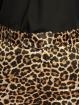 NA-KD Látkové kalhoty Flared Shiny Leo hnědý 3
