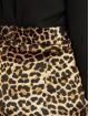 NA-KD Látkové kalhoty Flared Shiny Leo hnědý 4