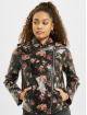 NA-KD Leather Jacket Rose Printed black