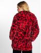 NA-KD Manteau hiver Faux Fur Leo rouge 1