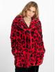 NA-KD Manteau hiver Faux Fur Leo rouge 2