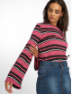 NA-KD Pullover Wide Sleeve Striped pink