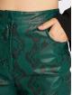 NA-KD Stoffbukser Snake Printed PU grøn