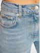 NA-KD Straight Fit Jeans Raw Hem Straight Leg blau