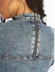 NA-KD Sukienki Puff Sleeve Mini Denim niebieski